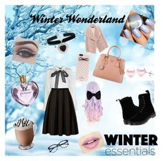 """Winter Wonderland"" by athena-carrillo on Polyvore featuring STELLA McCARTNEY, Dr. Martens, Fiebiger, Vera Wang, Kate Spade, Prada, Rock 'N Rose, Suzy Levian and Zara"