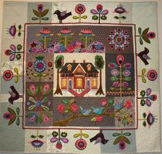 Sue Spargo - Yes, this is a beautiful quilt, but it would also be beautiful done…