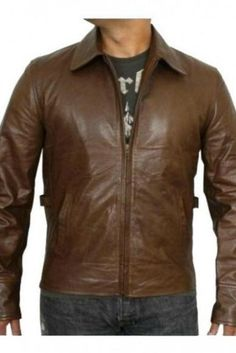 ANTIQUE BROWN BIKER RACING LEATHER JACKET 2016 MEN'S
