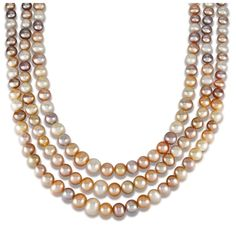 Shop for DaVonna Sterling Silver Graduated Freshwater Pearl Choker Necklace, Get free delivery On EVERYTHING* Overstock - Your Online Jewelry Destination! Faux Pearl Necklace, Beaded Necklace, Glass Jewelry, Cool Things To Make, Fresh Water, Jewelry Watches, Chokers, Jewelry Making, Pearls
