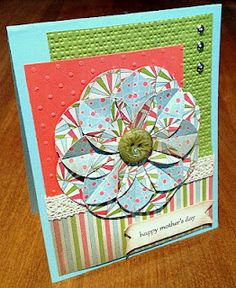 love the flower in this paper - card