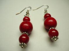 Dangle Earrings, Red Chalk Turquoise, Woman's Jewelry   eBay