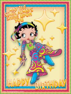 Betty Boop Pictures Archive: Betty Boop Happy Birthday greetings