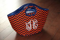 Game Day Tailgate Cooler Tote Monogrammed Personalized - More Colors. $36.00, via Etsy.