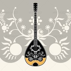 The Bouzouki - A Greek musical instrument.