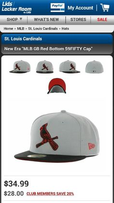 St. Louis Cardinals Fitted New Era Hat from Lids.com 36a8f7255821