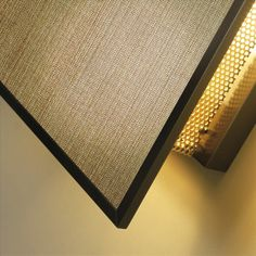 Wall and hanging lamp, structure in bronze, glass, outdoor fabric.  Promemoria Teresa