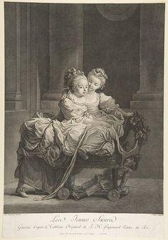 Les Jeunes Soeurs.  After Jean Honoré Fragonard  (French, Grasse 1732–1806 Paris).