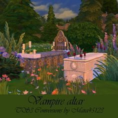Vampire altar Conversions at Sims 4 Mods, Altar, Vampires, Sims 4 Challenges, The Sims 4 Packs, Sims Building, Sims 4 Characters, Sims 4 Build, Sims 4 Houses