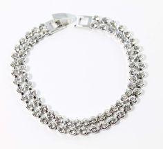 Bridal Bracelet, Modern Design, Swarovski, Diamond, Classic, Bracelets, Silver, Handmade, Jewelry