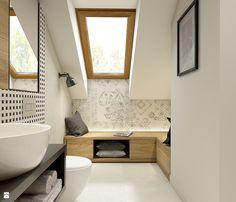Dom w Milanówku Laundry In Bathroom, Cabinet Styles, Interior, Clawfoot Bathtub, Attic Bathroom, Bathroom, Bathroom Design Small, Home Interior Design, Bathroom Inspiration