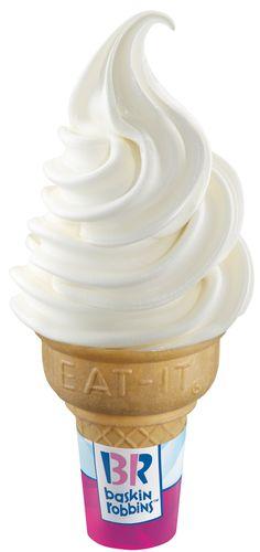soft ice cream cone -