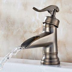 Single Handle Nickel Brushed Bathroom Sink Faucet T0599M