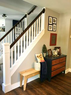 You might even decide to stack your staircase. Paint a Mural or Design on the Staircase Wall If you truly want your staircase to be noticed, then look at painting a mural or design which goes up the staircase. Basement Staircase, Small Staircase, Staircase Remodel, Staircase Makeover, House Stairs, Staircase Design, Staircase Diy, Staircase Decoration, Decorating Staircase