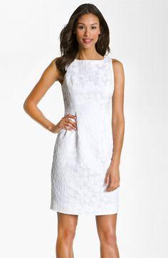 Carmen Marc Valvo 'Daisy' Jacquard Boatneck Sheath Dress available at #Nordstrom