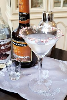 "Chocolate Martini II | ""This is my own version of a popular drink. Garnish with a small peppermint candy cane."" #drinks #drinksrecipes #drinkrecipes Cocktail Recipes, Cocktails, Chocolate Martini, Peppermint Candy Cane, Popular Drinks, Punch Recipes, Non Alcoholic, Party Drinks, Margarita"