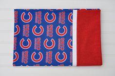 Chicago Cubs Standard size pillowcase, Holiday, Christmas Gift, Blue, Red, Baseball, kids pillowcase, child pillowcase, Gifts Under 20.00 by BlackKatStudio on Etsy