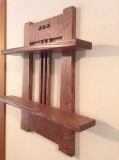 Mission oak Wall Shelf in Antiques, Reproduction Antiques | eBay