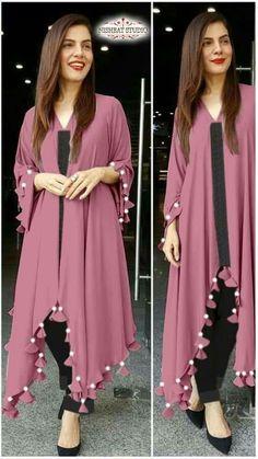 Stylish Sarees, Stylish Dresses, Stylish Outfits, Nice Dresses, Pakistani Dresses Casual, Pakistani Dress Design, Dress Indian Style, Indian Outfits, Long Dress Fashion