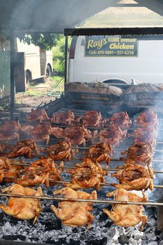 One of the most amazing chicken grills I've ever seen in my life, at Rays Kiawe broiled chicken in Haleiwa, Hawaii - http://migrationology.com/2014/03/rays-kiawe-broiled-chicken-haleiwa-hawaii/