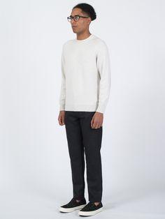 Merino Saddle Neck Sweater - http://bit.ly/1TfZdEb
