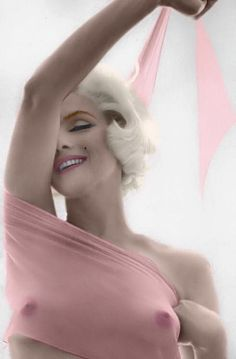 Marilyn Monroe, by Bert Stern (1962, colorized)