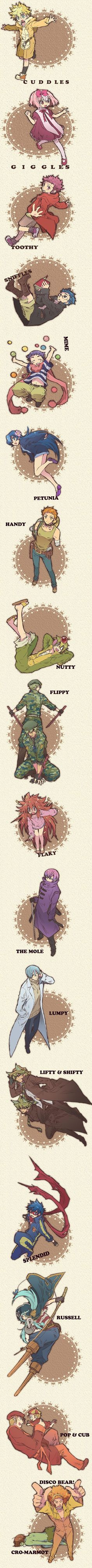 Tags: Anime, Giggles (HTF), Happy Tree Friends, The Mole (HTF), Mime (HTF)