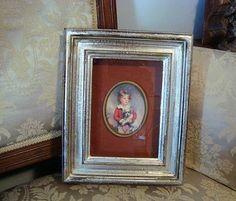 "Vintage Shadowbox Framed Florentine Miniature Berkeley House Italy 11"" x 9"""