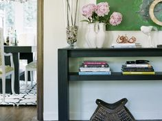 Vary Accessory Height in Decorating Tips for Shelves and Bookcases from HGTV