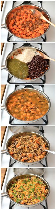 Chorizo Sweet Potato Skillet