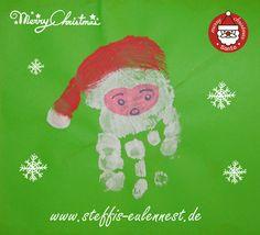 Weihnachten, Basteln mit Kindern, Handabdruck, KITA, Krippe, Christmas, Merry Christmas, Weihnachtsmann, Frohes Fest