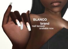 "sachablanco: "" blanco brand presents the 'french tip nail lacquer' nails c. Sims 4 Cc Eyes, Sims Cc, Frensh Nails, Sims 4 Nails, Sims 4 Collections, Play Sims 4, Sims 4 Black Hair, Sims 4 Mods Clothes, Sims 4 Children"