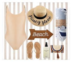 """""""Nude swimwear"""" by mia-nicole-fashion ❤ liked on Polyvore featuring Abyss & Habidecor, Haight, Mud Pie, Bobbi Brown Cosmetics and Tkees"""