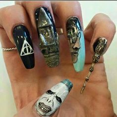 Harry potter nail art #nail #art #harry #potter