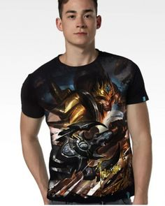 2015 newest Mens League of Legends t shirt Jarvan Ⅳ hero-