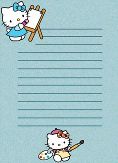PAPEL DE CARTA 7: Hello Kitty
