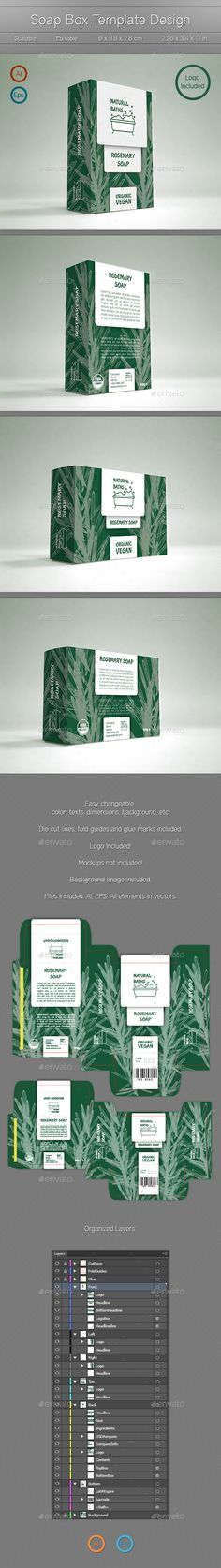 Classic tea packaging design packaging design print for Soap box design template