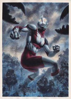 Ultraman - Watercolors by edtadeo
