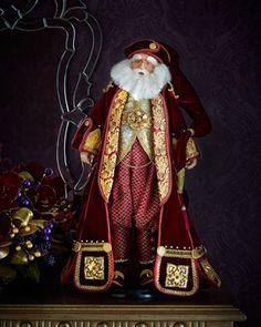 "Jules Garland Seabury 32"" Santa by Katherine\'s Collection at Neiman Marcus."