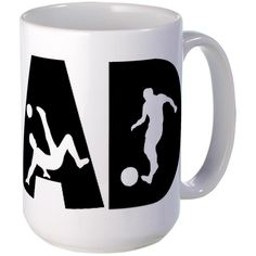 CafePress - Soccer DAD Large Mug - Coffee Mug, Large 15 oz. White Coffee Cup ** Details can be found  : Coffee Mugs