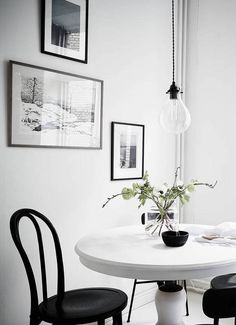 Fresh home in grey, dining room