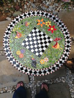 mosaic game table finally grouted