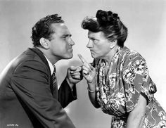 """Marjorie Main and James Whitmore in """"Mrs. O'Malley And Mr. Malone"""", 1950"""