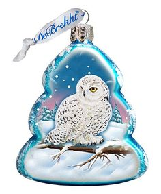 Look at this Blue Owl Hand-Painted Glass Tree Ornament Wooden Ornaments, Hanging Ornaments, Ball Ornaments, Painted Ornaments, Christmas Owls, Christmas Ornament Sets, Christmas Ideas, Christmas Images, Christmas Stuff