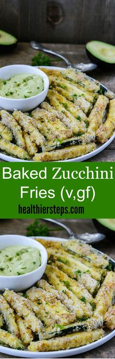 Baked Zucchini Fries (Gluten Free Vegan)