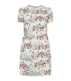 RED VALENTINO Music Box Scuba Dress. #redvalentino #cloth #