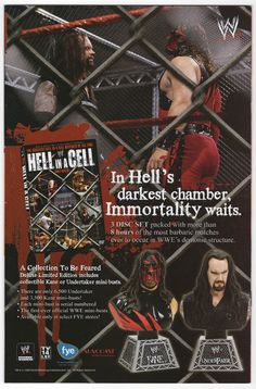 Throw Back Thursday Comic Book Ad - Hell in a Cell Kane & Undertaker busts #comicbookads