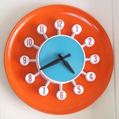 "vintage  10"" Spartus ""atomic"" wall clock"