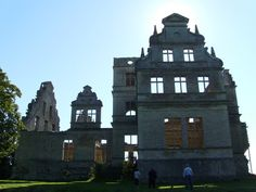 Ridala Parish, Estonia Ungru Manor * The gutted remains of this Estonian mansion are a monument to a tragic love - Created as a near-perfect copy of Merseburg Castle in Halle, Germany, the manor that remains today was built in the 1890s on the site of a manor that had been there since the 1500s.