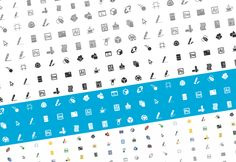 Designers And Developers Icon Set, 1000+ Icons, 4 Different Styles